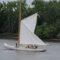 Raising the four-sided main sail